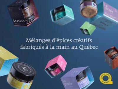 La pincée, mélanges d'épices créatifs fabriqués à la main au Québec