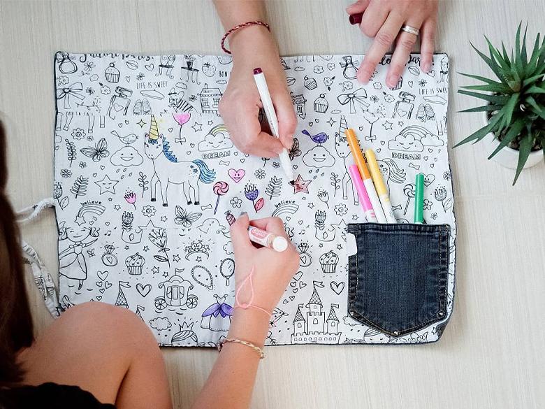 Le cahier de coloriage lavable pour laisser libre cours à l'imagination