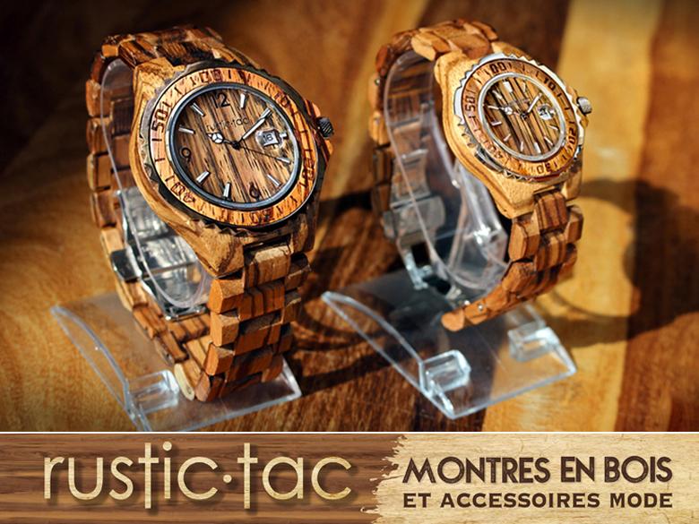 Découvrez les montres en bois Rustic Tac