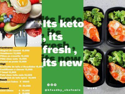 Des plats Keto congelés ou frais avec K Food by chef Emie